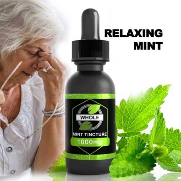 WHOLE MINT 1000MG MINT CBD OIL TINCTURE WITH NATURAL HERBAL EXTRACTS