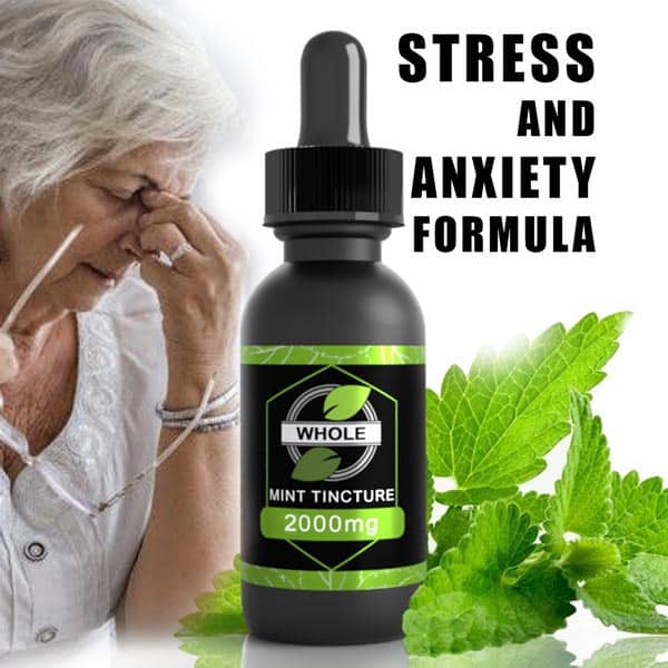PLANT HEALTH 2000MG WHOLE MINT CBD FOR STRESS AND ANXIETY