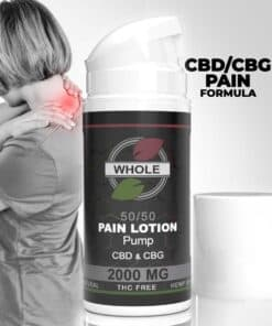 WHOLE 50-50 2000MG CBD AND CBG PAIN LOTION